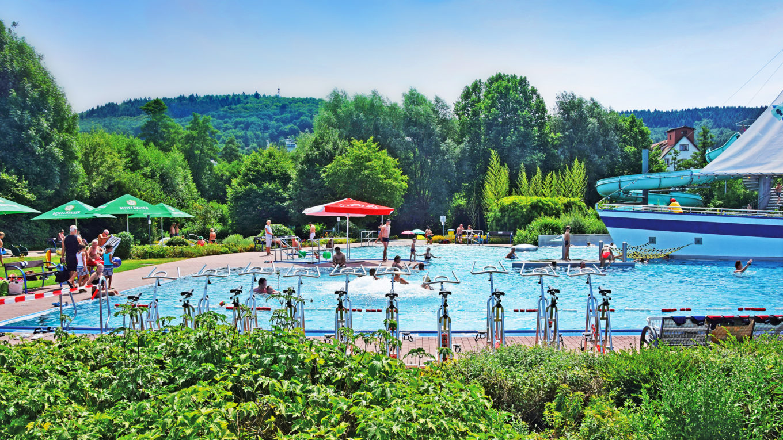 Aquabiking Fitnesstag Spaßbad faMos Freibad Mosbach