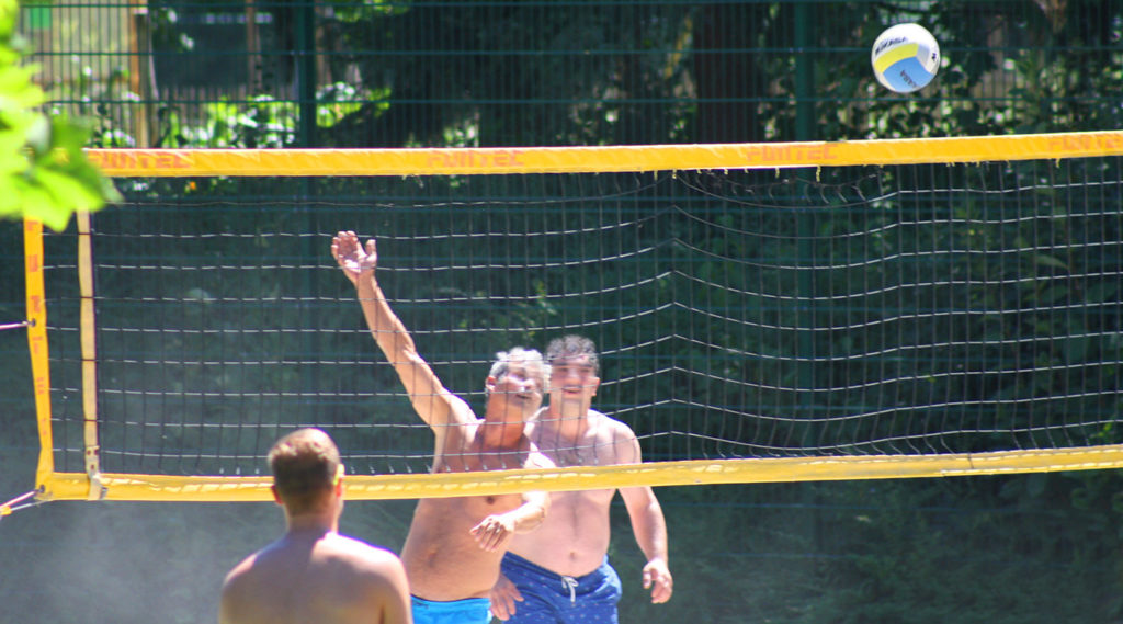 Beachvolleyball-Feld Spaßbad faMos Freibad Mosbach