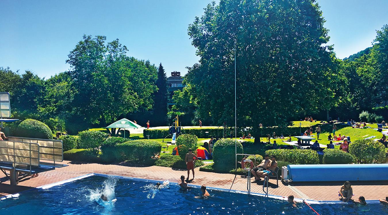 Sprungbereich Spaßbad faMos Freibad Mosbach